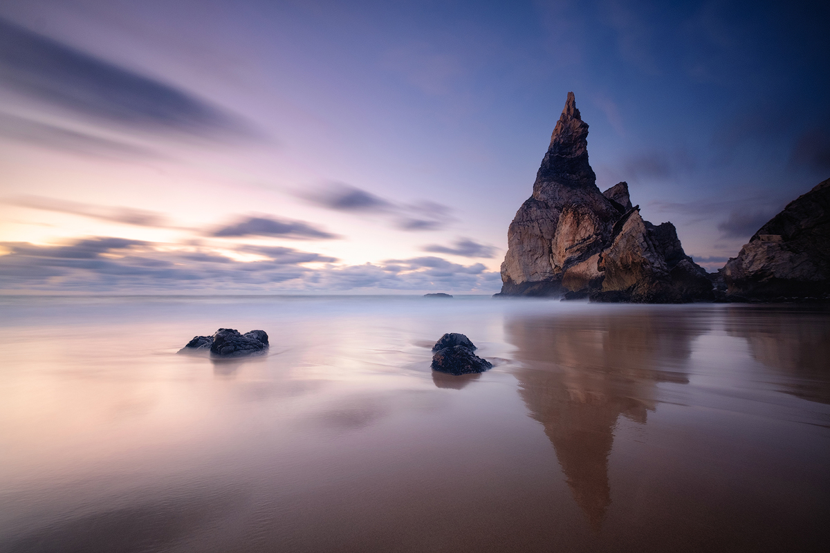 "A long exposure at Praia da Ursa in the blue hour Fuji X-T1 . Fuji XF10-24mmF4 @ 10mm . f/10 . 56"" . ISO 200"