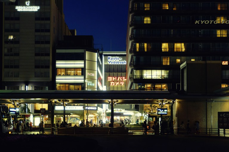 Fujifilm X-T1 + XF 16-55mm WR, @30 mm, F2.8, ISO 1250, 1/40 sec, hand-held. Kyoto Station, Kyoto, Japan.