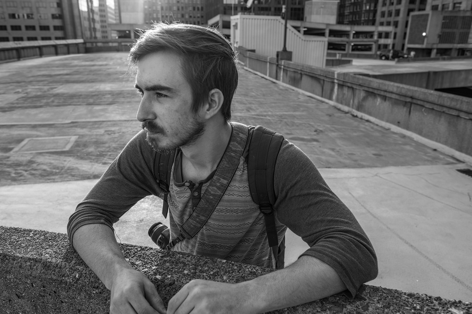 Nathan • Downtown St. Louis, Missouri. Fuji X-Pro 2 and a Fujinon XF16mm f1.4 R. Image exposed at Iso 400 at f4 for 1/250 of a second.